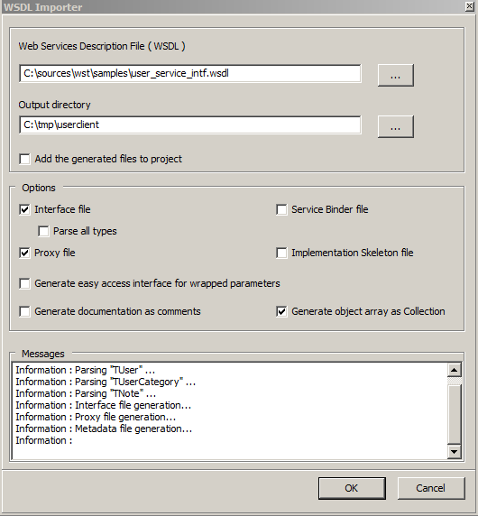 Web Services Toolkit Lazarus WSDL importer wizard.
