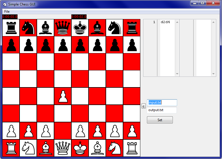 Simple Chess starting a game