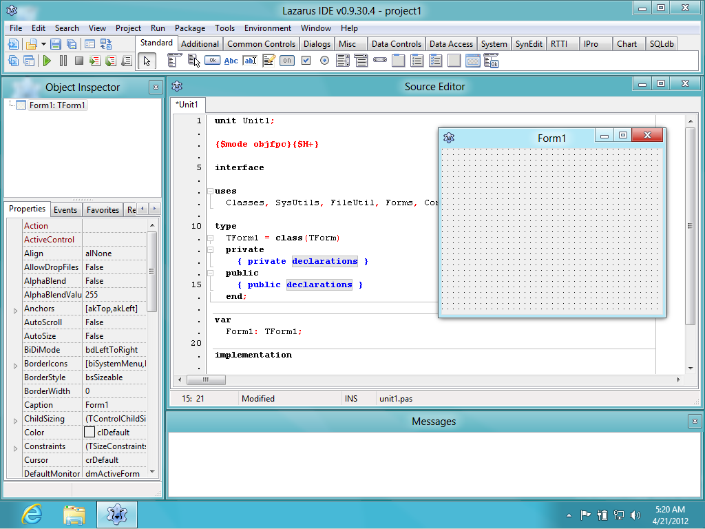 File:lazarus 1. 2. 6 + free pascal 2. 6. 4 on windows 8. Png.