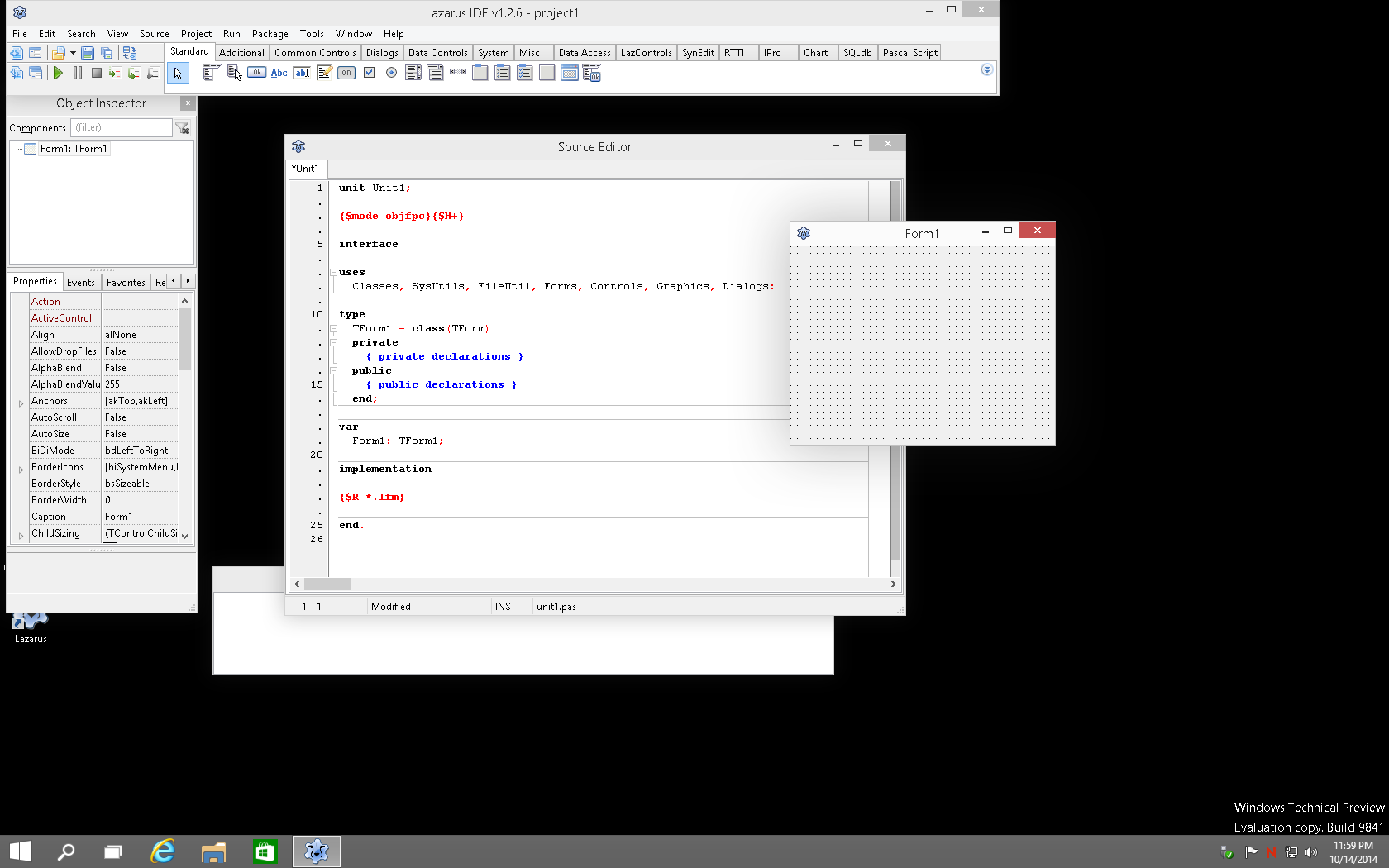 Lazarus x64 screenshot