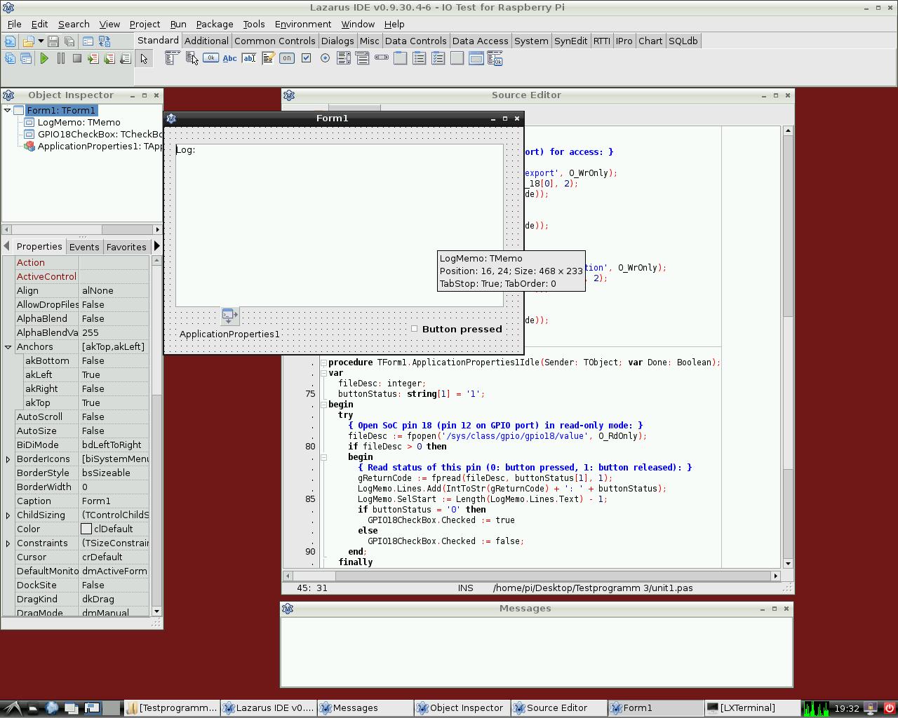 Lazarus On Raspberry Pi De Wiki Wiringpi Input Interrupt Den Status Eines Anschlusses Lesen