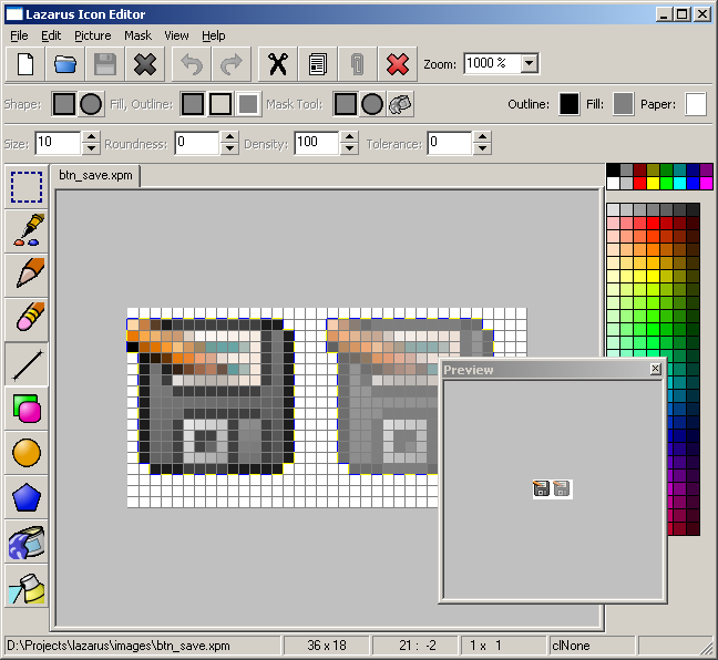 Icon Editor under Windows XP